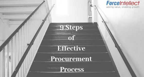 9 steps of effective Procurement Process