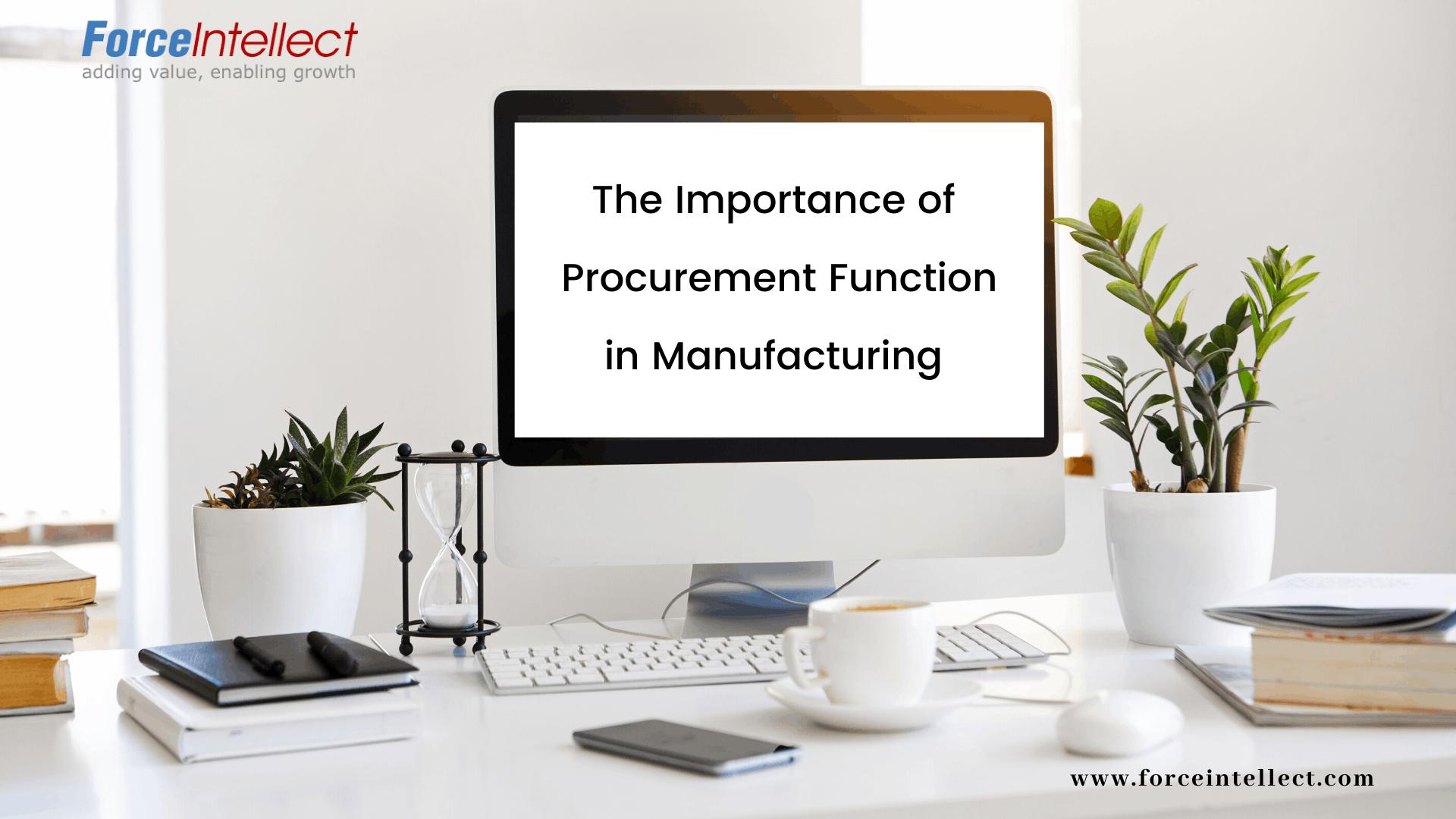 importance of procurement function