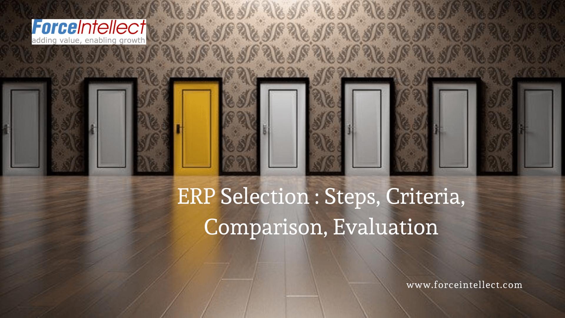 ERP Selection Steps Criteria Comparison Evaluation
